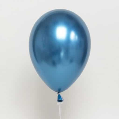 Helium Filled Blue Chrome Balloon
